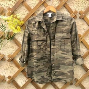 F21 CAMO BUTTON UP/JACKET